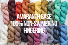 Load image into Gallery viewer, Dyed to Order Tonals • Amaranth Base • 100% Non-Superwash Merino • Fingering Weight