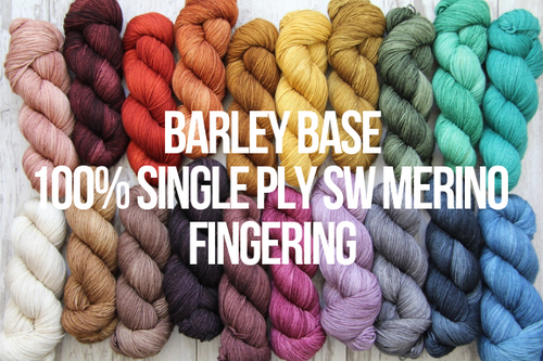 Dyed to Order Tonals • Barley Base • 100% Single Ply Superwash Merino • Fingering Weight