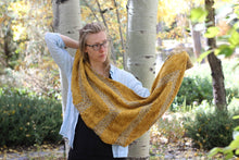 Load image into Gallery viewer, Dyed to Order • Zabadoo Shawl Kit • Gorse & Solstice