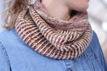 Load image into Gallery viewer, Dyed to Order • Garter Snake Cowl Kit • The Burrow & White Way of Delight