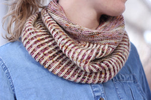 Dyed to Order • Garter Snake Cowl Kit • The Burrow & White Way of Delight