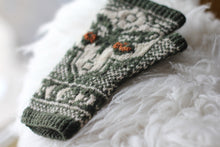 Load image into Gallery viewer, Dyed to Order • Underwing Mitts Kit • Au Lait, Moss & Rust