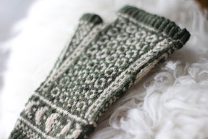 Dyed to Order • Underwing Mitts Kit • Au Lait, Moss & Rust