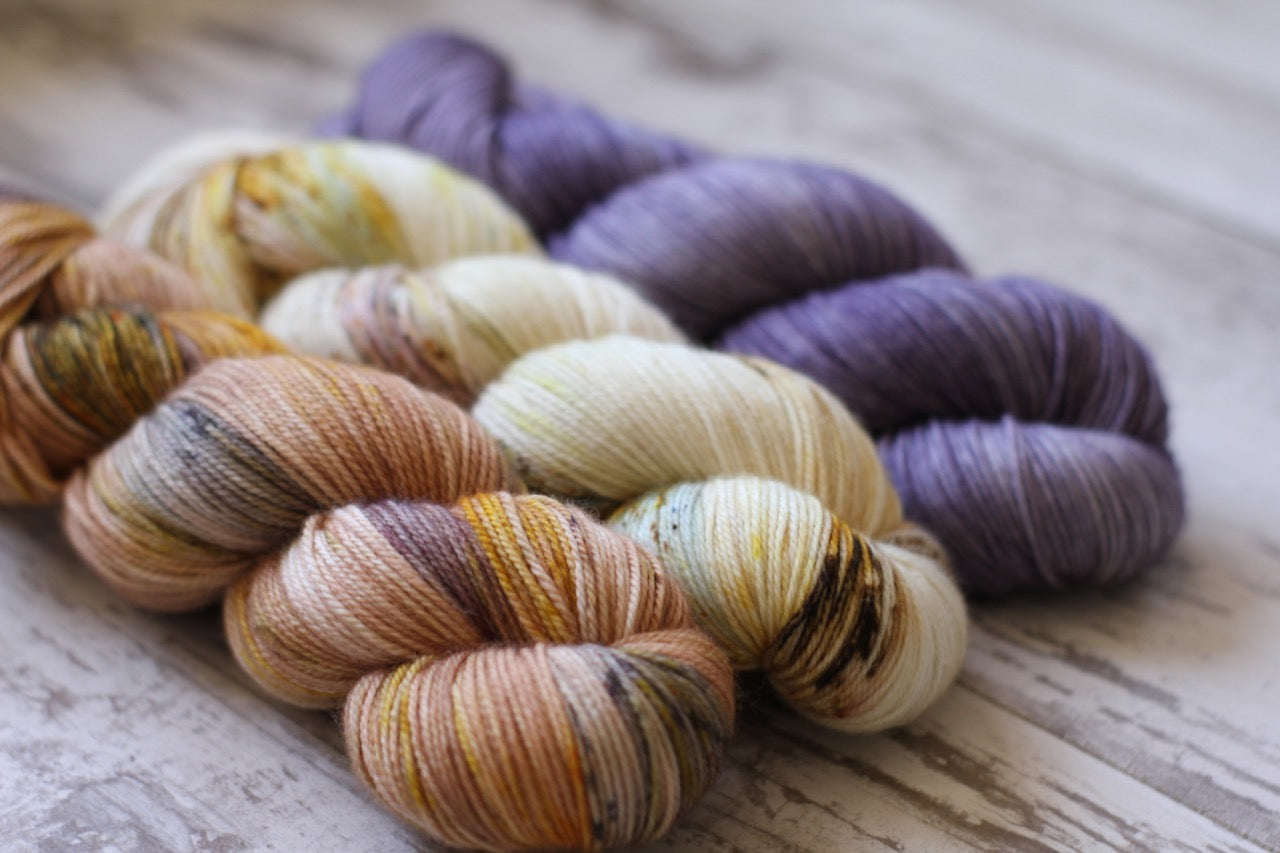 Dyed to Order • Taroko Sweater Kit • White Way of Delight, Nectar, & Lilac