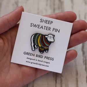 Sheep Sweater Enamel Pin