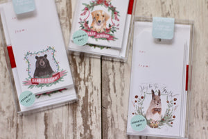 Assorted Christmas Crests Gift Tags