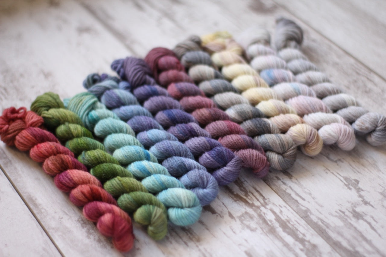 Dyed to Order • Entire Little Women Collection Mini Skeins