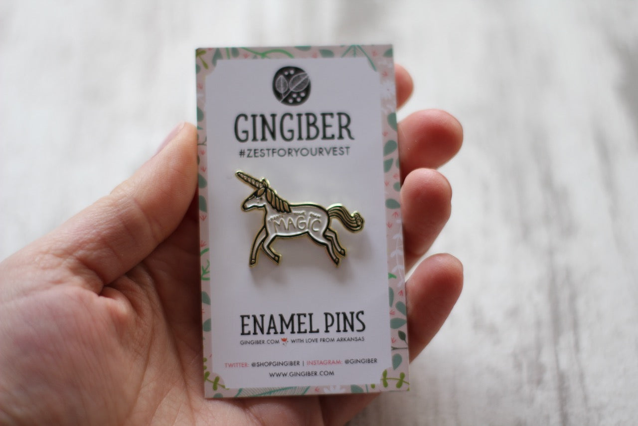 Magic Unicorn Enamel Pin