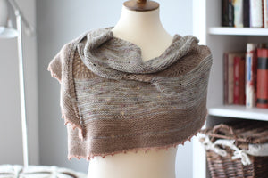 Dyed to Order • Woods Haven Shawl Kit • Solstice, Sparrow, & Blush