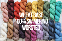 Load image into Gallery viewer, Dyed to Order Tonals • Wheat Base • 100% Superwash Merino • Worsted Weight