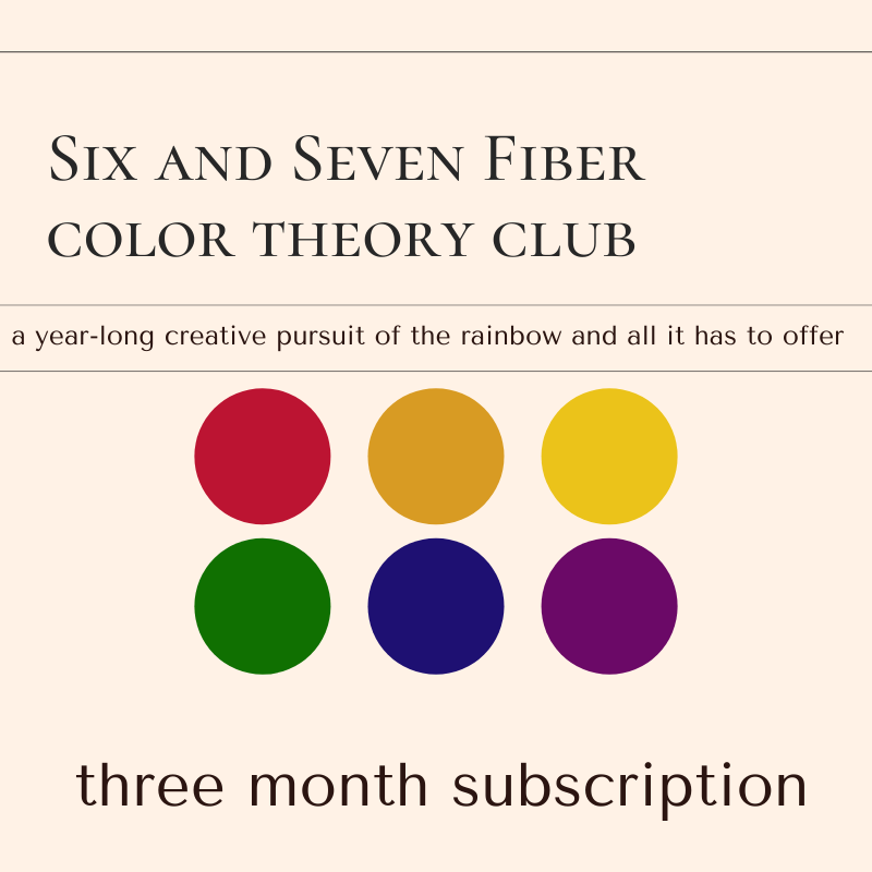2021 Color Theory Yarn Club • Three Month Subscription • April, May & June