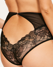 Load image into Gallery viewer, PEEK-A-BOO LACE HIGH WASIT BACKLESS BRIEFS
