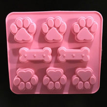 Load image into Gallery viewer, Cat Paw Dog Bone Chocolate Mold Silicone Mold Soap Mold Cookie Mold