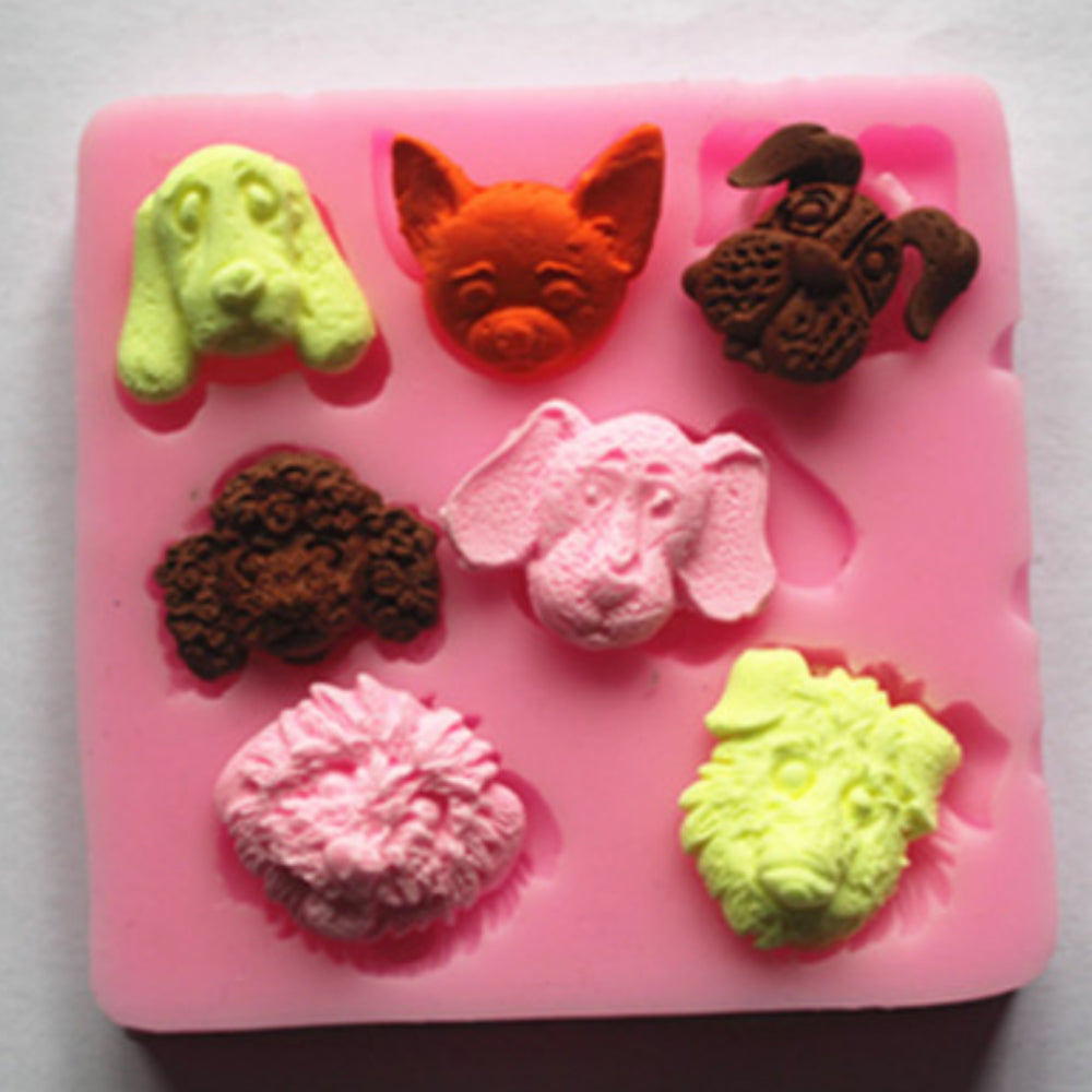 Silicone Mold Fondant Mold Chocolate Mold Lace Mold Cake Decoration Mold Cute Puppy