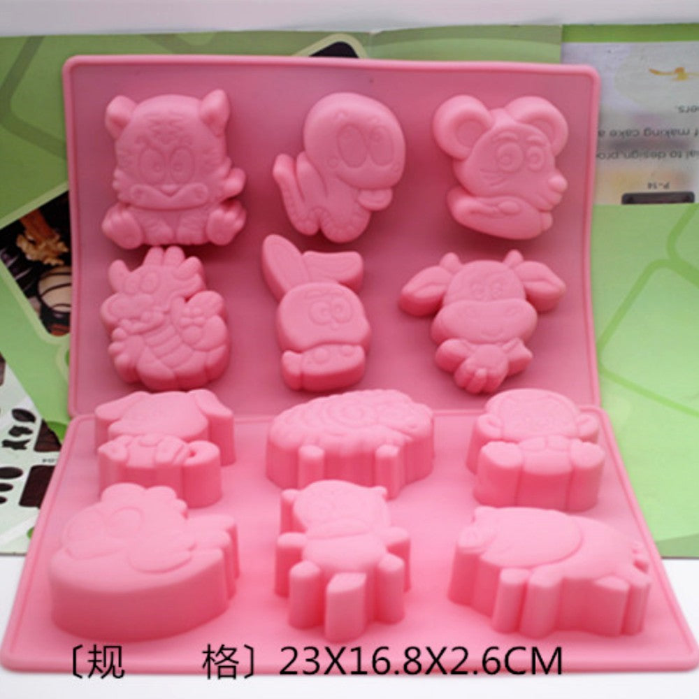 Zodiac Signs! Silicone Cake Mold Handmade Soap Mold Pudding Jelly Mold DIY Mold Set