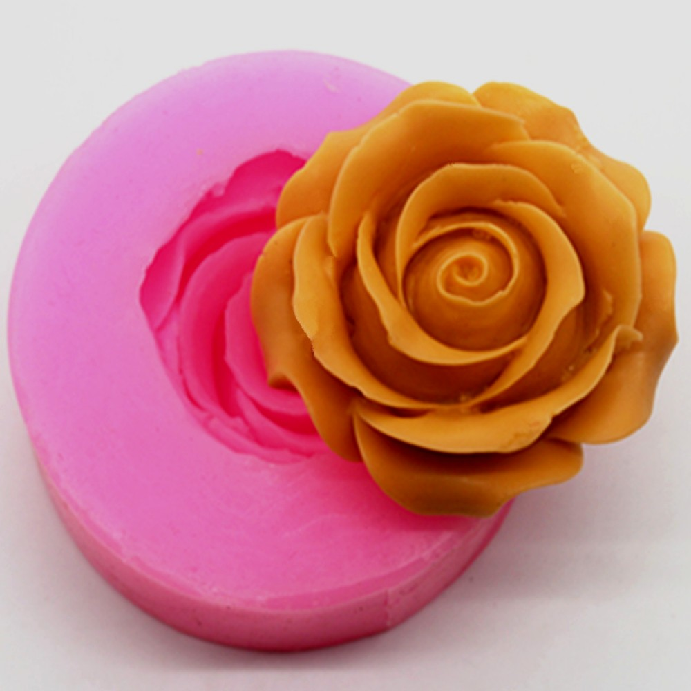 Rose Handmade Soap Mold Cake Decoration Mold Silicone Mold
