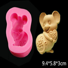 Load image into Gallery viewer, 12 Zodiac Cartoon Chocolate Stereo Cartoon Salt Sculpture Zodiac Mould Handmade Soap Food Silicone Mould