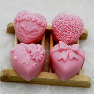 Four Different Love Patterns Taoshan Ice Skin Flowing Cantonese Moon Cake 50g Mousse And Spinach Silicone Mould