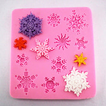 Load image into Gallery viewer, Silicone Mould Fondant Mould Cake Decoration Mould Lace Mould Snowflake