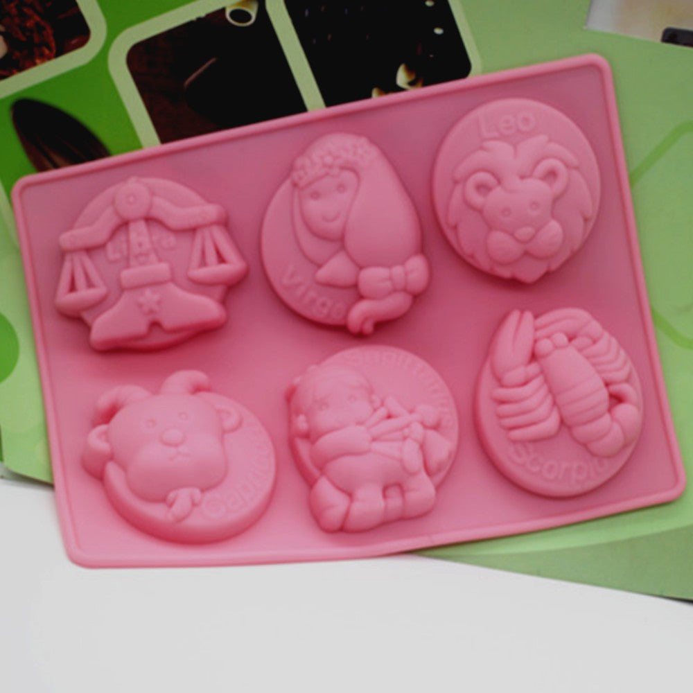 12 Constellation Molds Silicone Cake Mold Handmade Soap Jelly Pudding Chocolate Mold-1