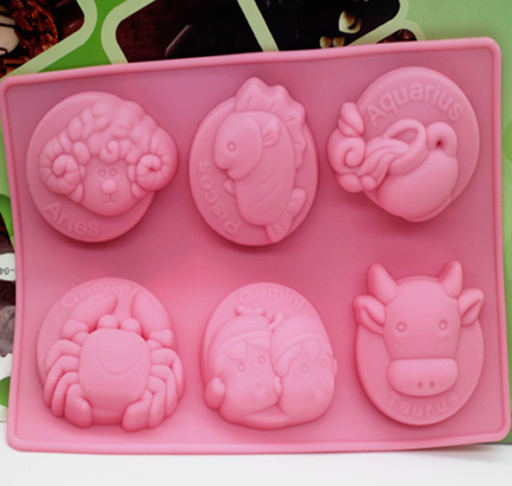 12 Constellation Molds Silicone Cake Mold Handmade Soap Jelly Pudding Chocolate Mold-2