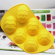 Load image into Gallery viewer, 6 Large Egg-Shaped Silicone Mold Cheese Cake Mold Silicone Chocolate Cake Mold Jelly Pudding Mold