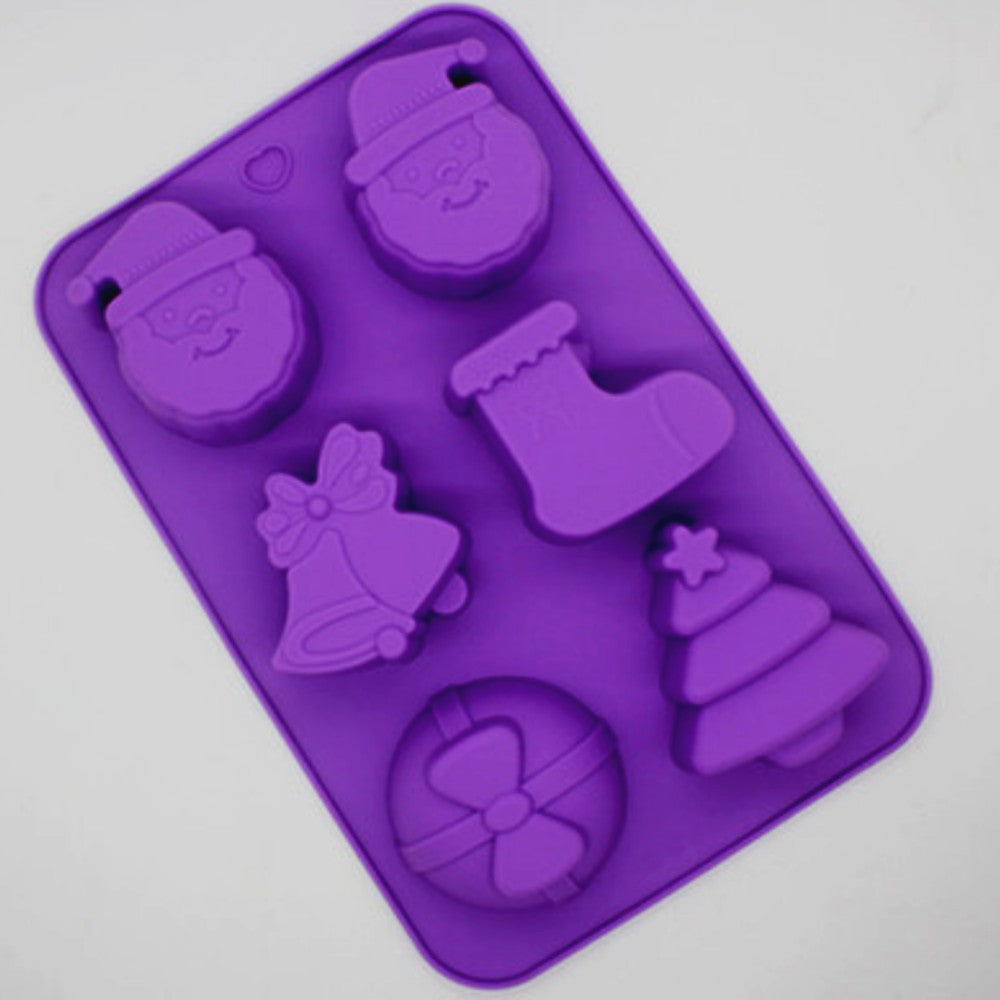 Christmas Cake Cake Mould Jelly Pudding Chocolate Mould DIY Handmade Soap Mould- Santa, Tree, Gift, Bell, Socks