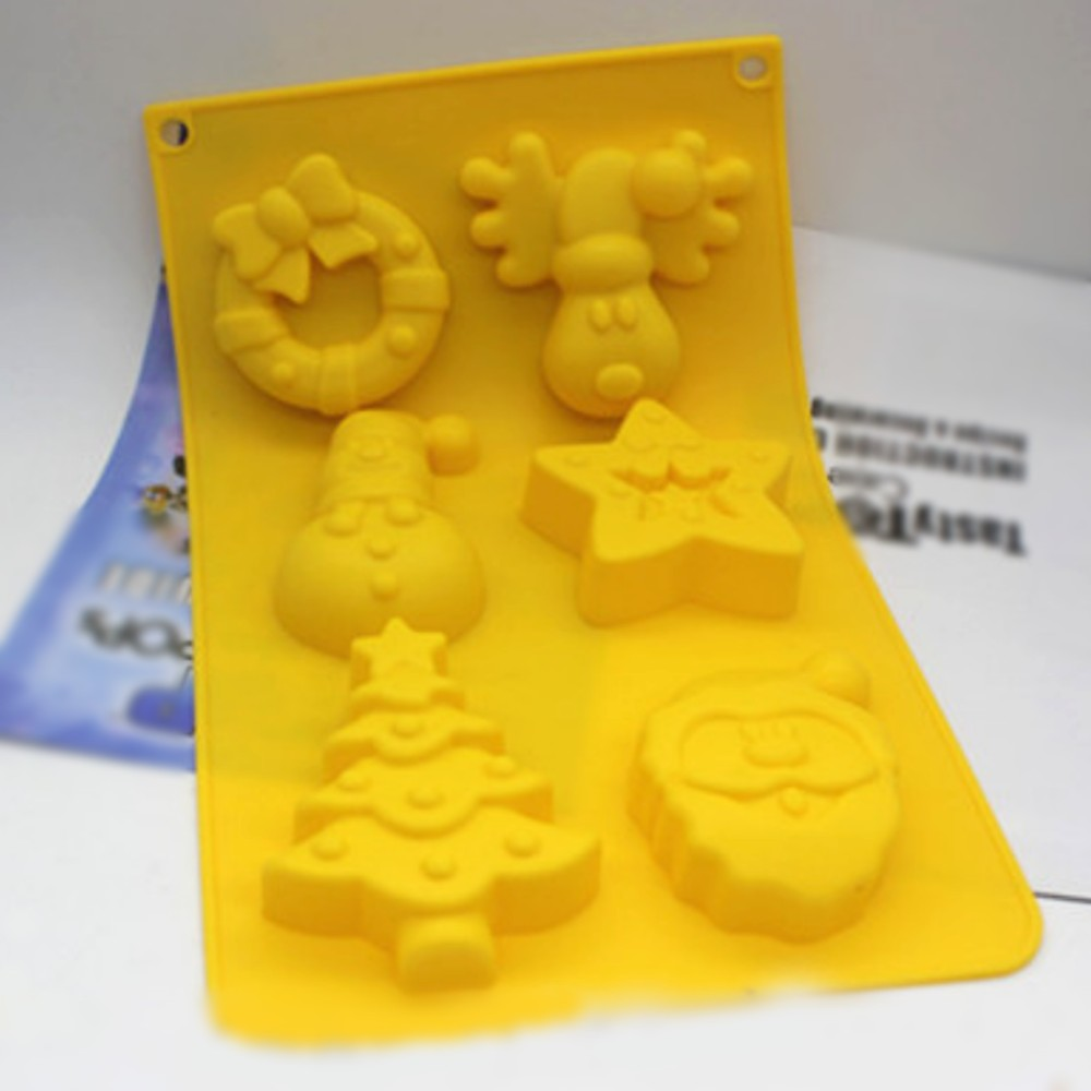 Christmas Cake Cake Mould Jelly Pudding Chocolate Mould DIY Handmade Soap Mould- Reindeer, Santa, Chirstmas Tree, Star