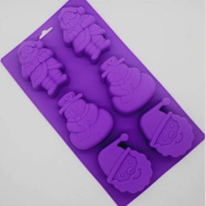 Christmas Cake Cake Mould Jelly Pudding Chocolate Mould DIY Handmade Soap Mould- Santa, Snowman