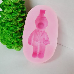 Wedding Bear Plaster Decoration Aromatherapy Gypsum Mold Wax Model Silicone Soap Mold