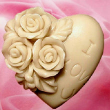 Load image into Gallery viewer, Rose Love Soap Mold / Handmade Soap Mold / Silicone Mold / Soap Mold Candle Mold-1