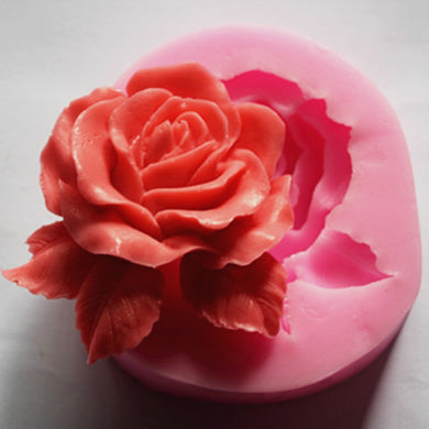 Rose Love Soap Mold / Handmade Soap Mold / Silicone Mold / Soap Mold Candle Mold-4