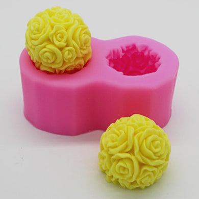 Rose Love Soap Mold / Handmade Soap Mold / Silicone Mold / Soap Mold Candle Mold-5