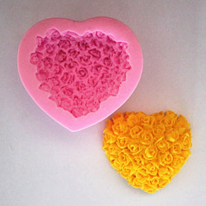 Rose Love Soap Mold / Handmade Soap Mold / Silicone Mold / Soap Mold Candle Mold-6