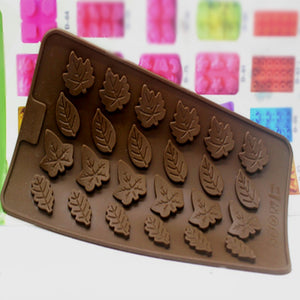 24 Leaves Silicone Cake Mold/ Chocolate Mold/ Ice Tray Mold