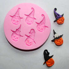 Load image into Gallery viewer, Halloween Hat Witch Silicone Fondant Chocolate Lace Cake Decoration Mold-1