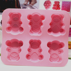 Baby Bear Handmade Soap DIY Soft Silicone Mold