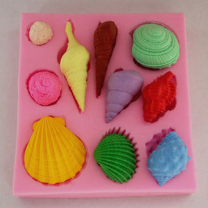 Ocean Shell Series Fondant Chocolate Chocolate Lace Cake Decoration Mold-3