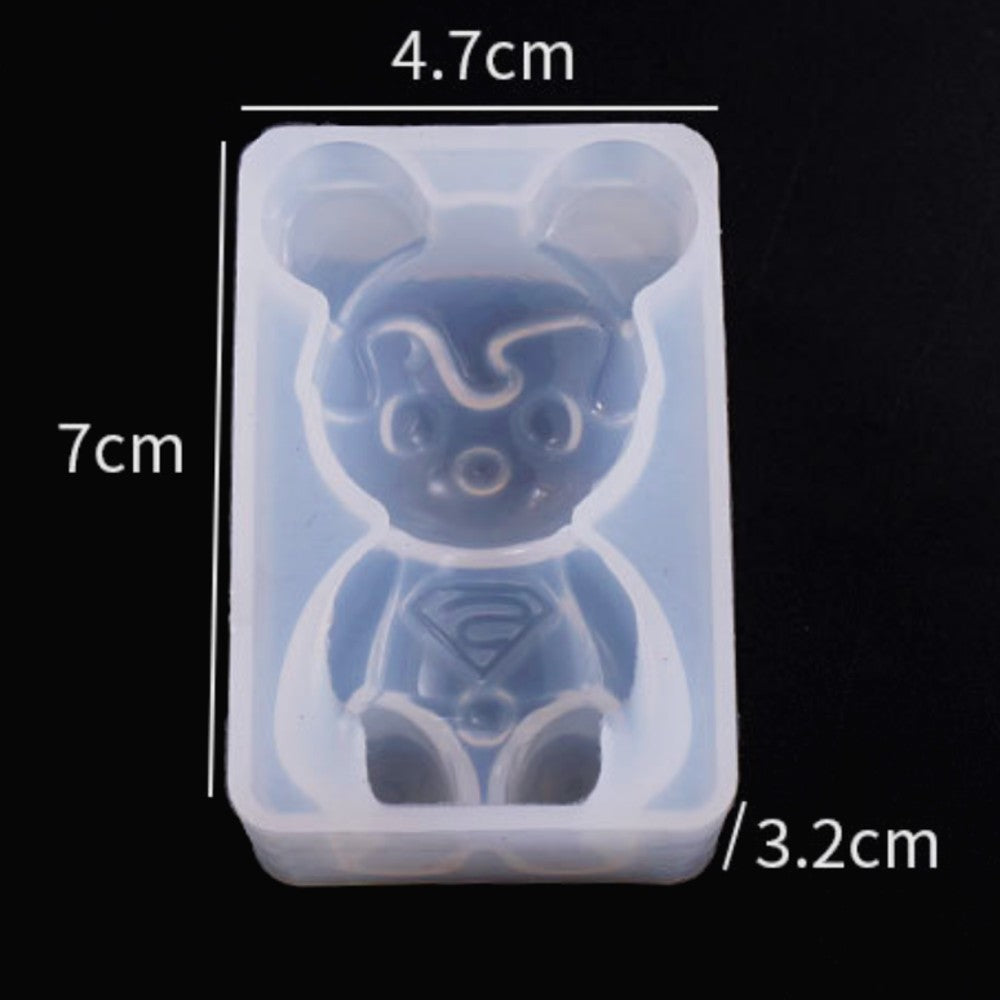 Crystal Epoxy Mirror Bear Elk Sleep Baby Three-Dimensional Little Yellow Duck Pony Silicone Mold