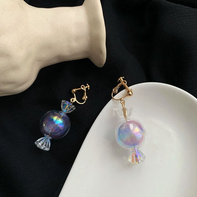 Temperament Elegant / Sweet colorful candy earrings