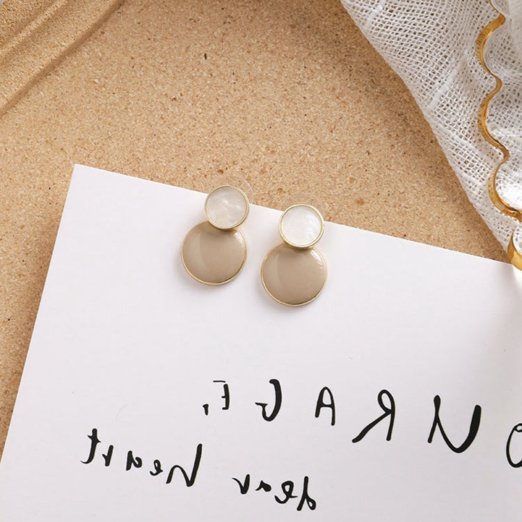 Temperament Elegant / Long brown geometric shape earrings