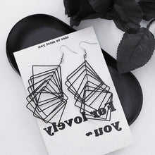 Load image into Gallery viewer, Temperament Elegant / Geometric Frosty earrings