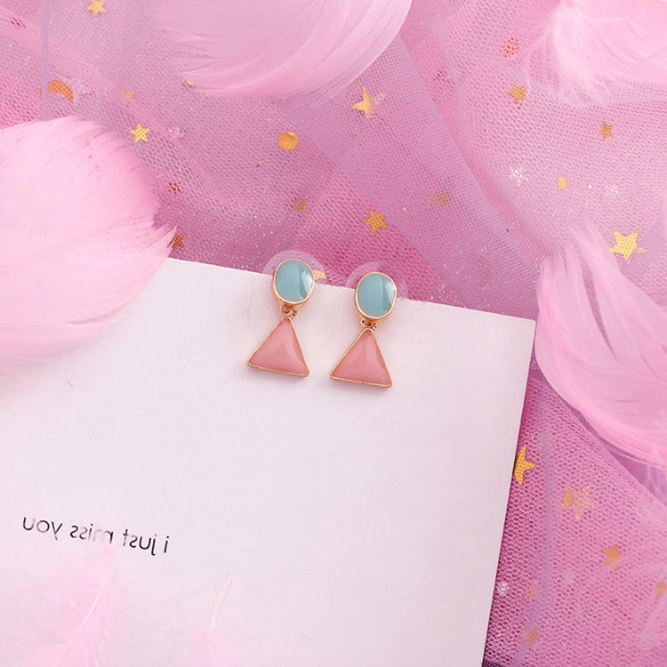 Temperament Elegant / Gemetric colorful shapes earrings
