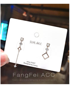 Temperament Elegant / Personality asymmetric earrings