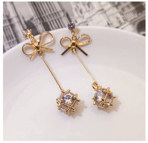 Temperament Elegant / Female sterling Gold earrings