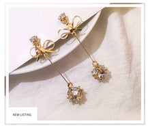 Load image into Gallery viewer, Temperament Elegant / Female sterling Gold earrings