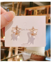 Load image into Gallery viewer, Temperament Elegant / Sterling star silver earrings