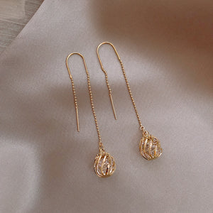 Temperature Elegant / Silver Long high quality earrings