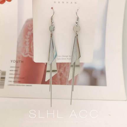 Temperament Elegant / long temperament small sterling silver earrings