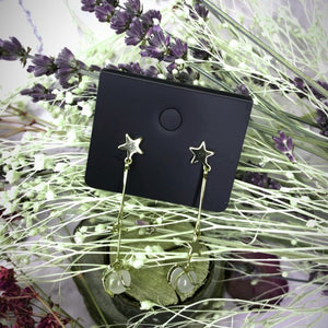 Temperament Elegant / Silver star long earrings
